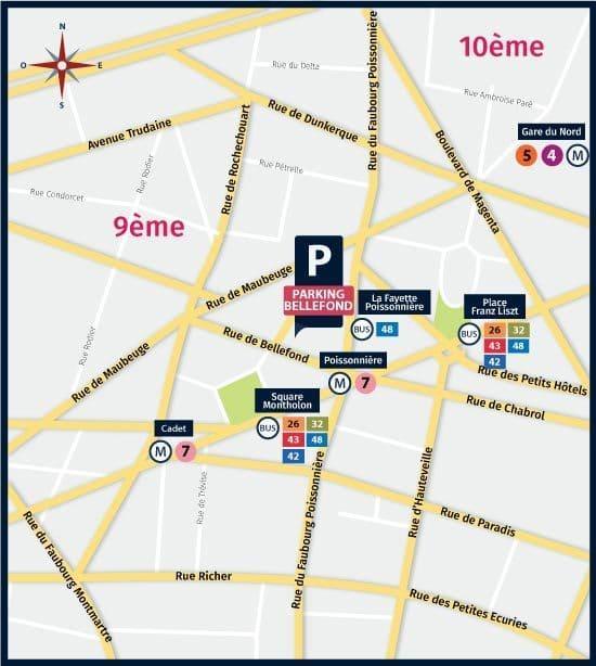 Parking paris 9
